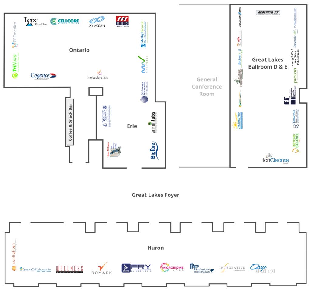 Exhibitor layout at TFIM